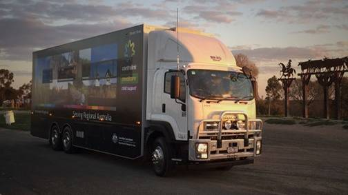 Mobile service centre Golden Wattle visits Great Lakes