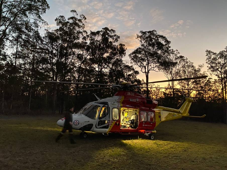 Woman airlifted to Newcastle following motorcycle accident