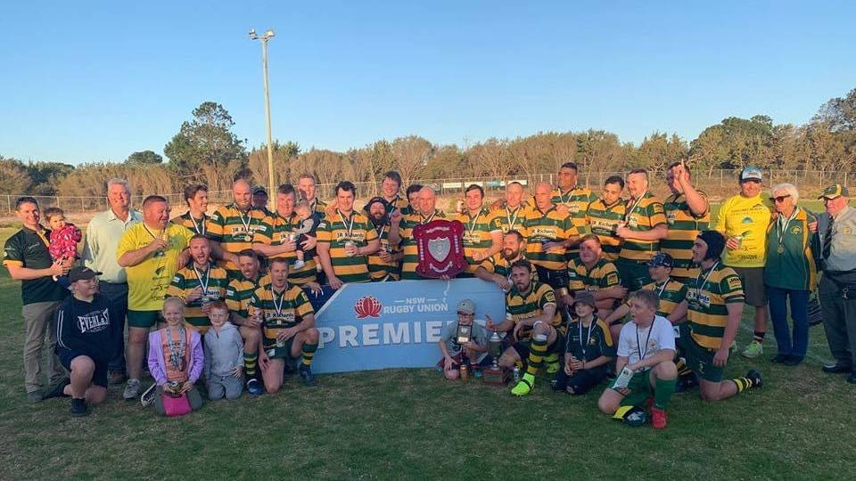 The Forster Tuncurry Dolphins after their 2019 premiership win.