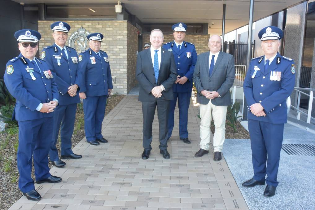 Historic day: NSW Police and political dignitaries were on hand for the official opening of the new and improved Taree Police Station. Photo: Rob Douglas.